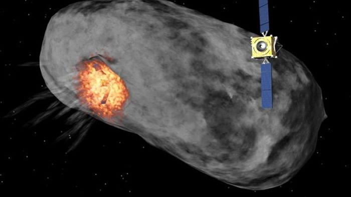飞行器可能改变小行星轨道。在遇到较小的小行星时,将会对它进行撞击。遇到较大行星时,则会引爆飞行器上的核装置。