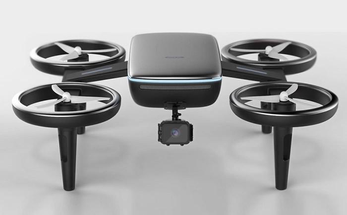 充电无人机外型像一般航拍机。