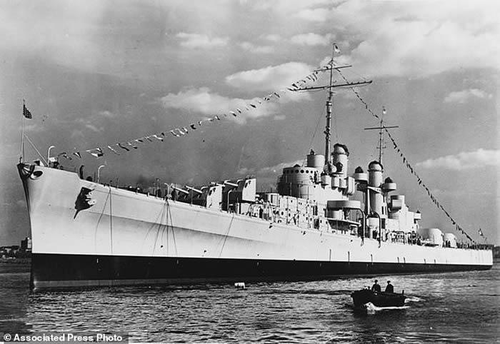 爱尔兰裔五兄弟葬身之处 二战沉没美军轻型巡洋舰朱诺号(USS Juneau)残骸现身
