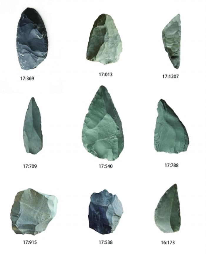 出土石制品组合