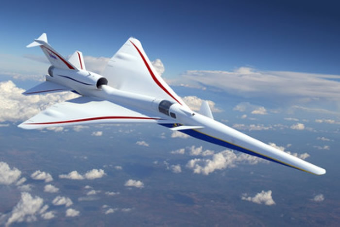 """美国NASA跟洛克希德马丁公司将合作研发超音速飞机""""X-plane"""""""