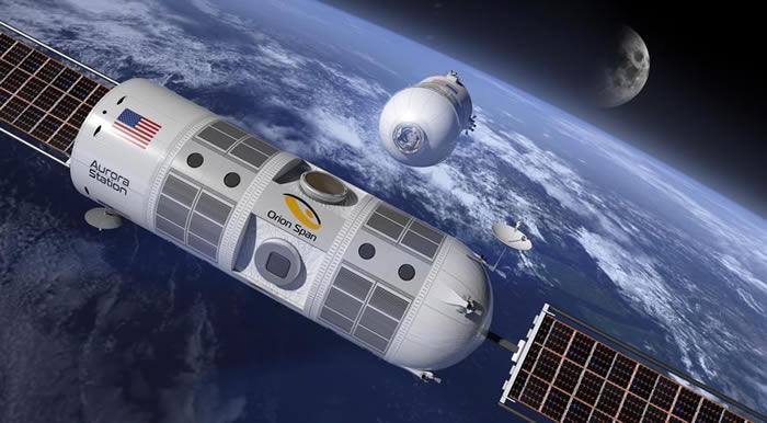 世界上首家建在国际空间站的太空酒店Aurora计划于2022年开业