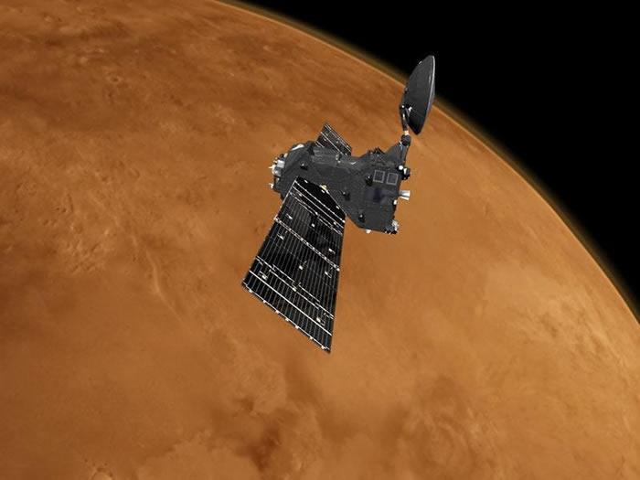 """俄罗斯火星探测任务""""火星太空生物""""框架下发射的""""痕量气体轨道探测器""""已进入工作轨道"""