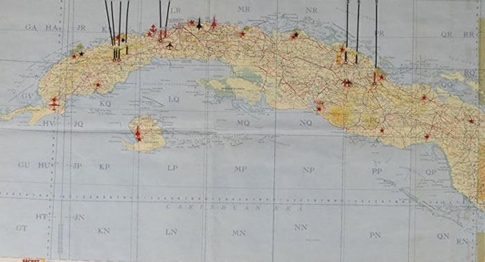 美国波士顿名人签名拍卖行将拍卖古巴导弹危机期间苏联军事设施地图