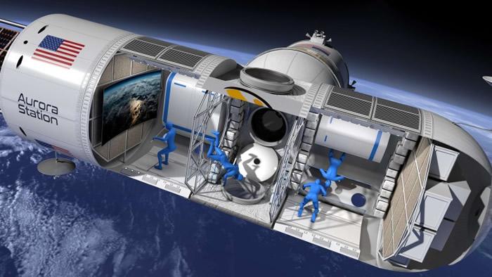 太空酒店内部空间和一架湾流私人飞机大小相若。