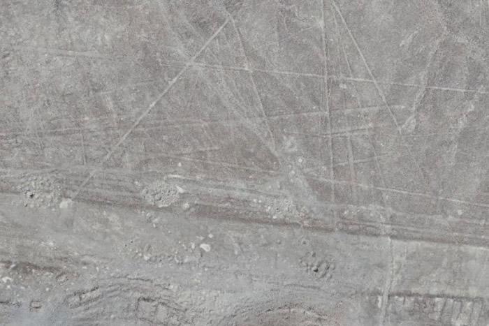 新发现的巨型地画已变得模糊。