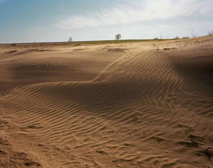 过度使用和错误管理农地造成表土风化流失,世界各地的土地因而大面积受到损害。 PHOTOGRAPH BY ROBB KENDRICK, NATIONAL GEOG