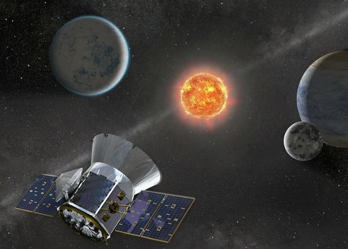TESS主要监测恒星,图为构想图。