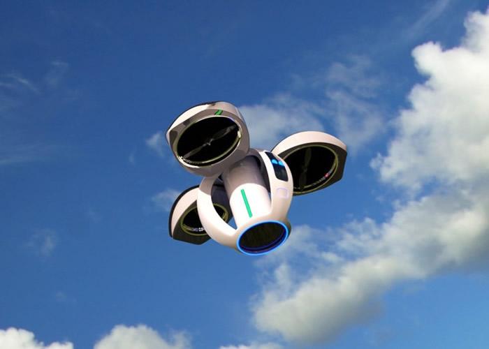 瑞典设计师将空气净化器加入航拍无人机