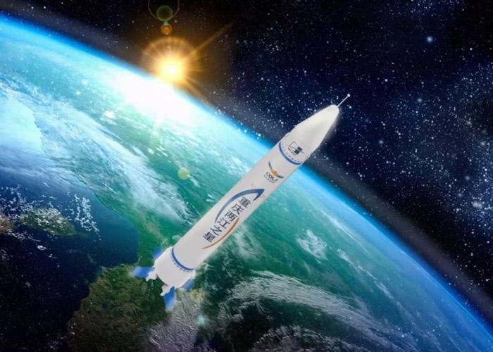 """""""重庆两江之星""""商业火箭的效果图。"""