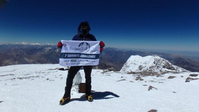 普莱恩登上阿空拉瓜山。