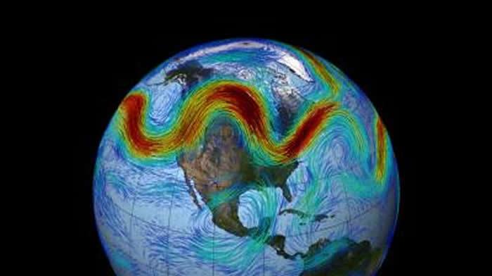 在高空穿行的喷射流会对气候模式产生强烈影响并促成极端天气