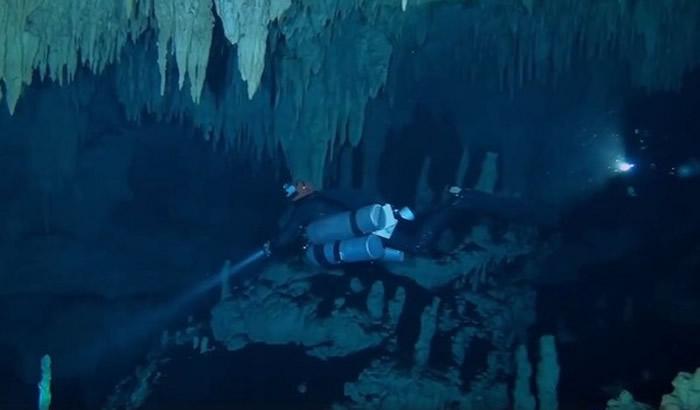 墨西哥世界最长水底洞穴惊见玛雅文明