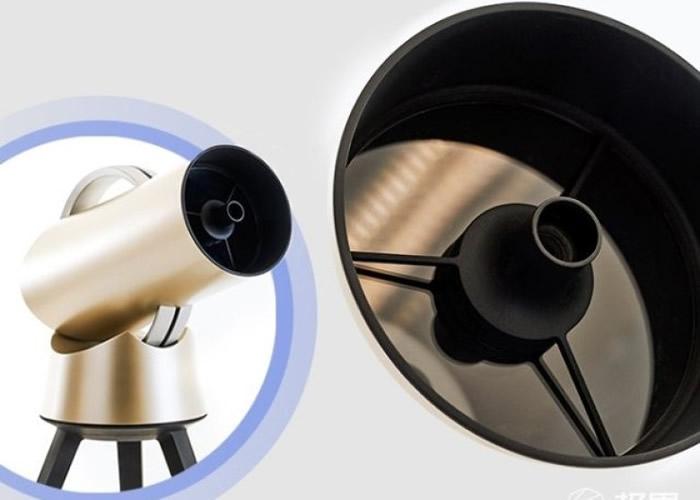 Hiuni机体远较传统光学式天文镜细小。