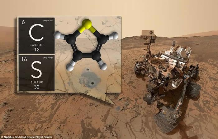 """""""好奇号""""探测器在火星干枯湖底发现古代有机化合物痕迹"""