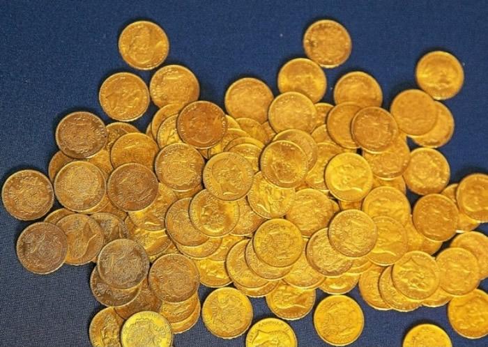 法国房屋内发现600个古董金币 估价逾数十万欧元