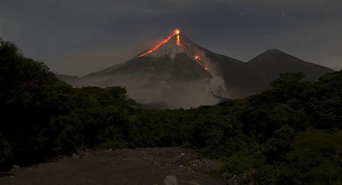 危地马拉火地岛(富埃戈)火山再次变得活跃