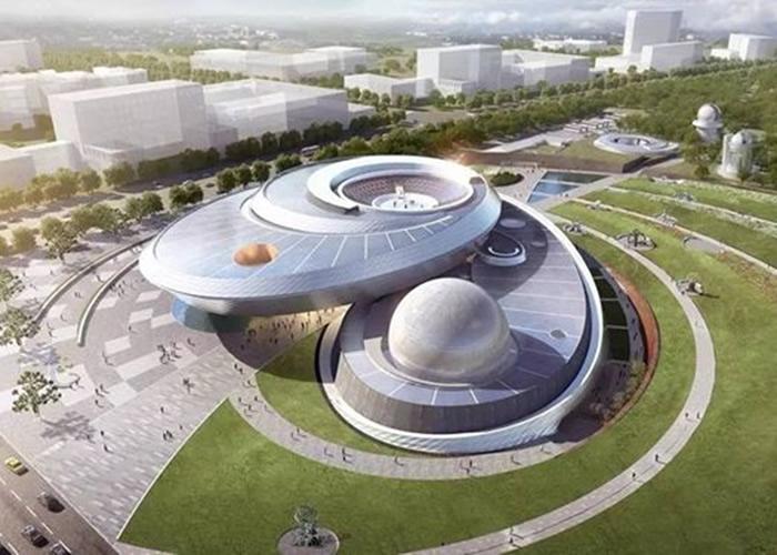上海天文馆的设计预想图。