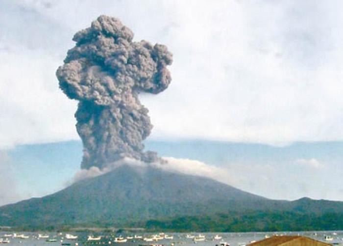 樱岛火山大规模喷发。