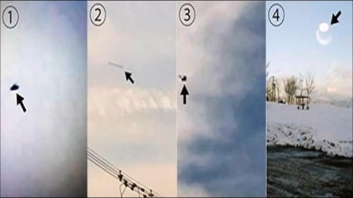 井户晴也公布拍摄到的UFO照片