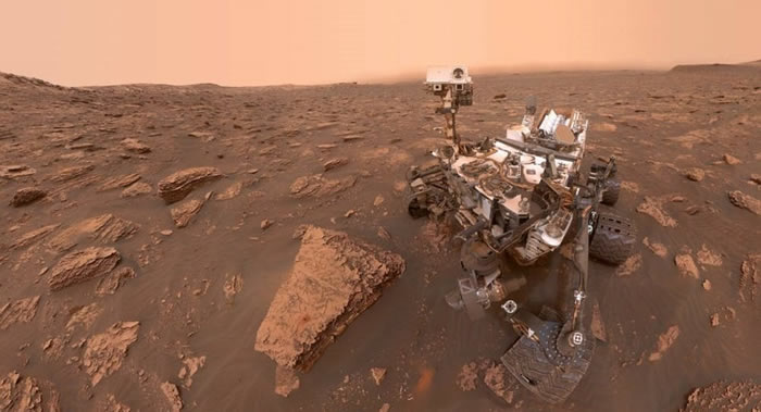 美国宇航局称Curiosity拍摄的图像表明火星目前被沙尘暴笼罩