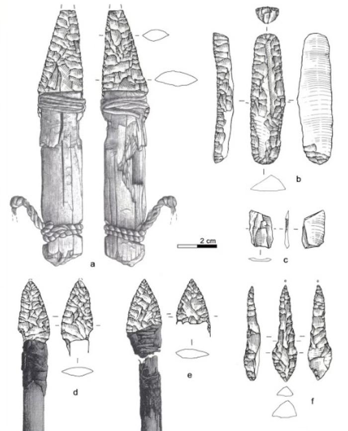 古代武器 黑白绘图