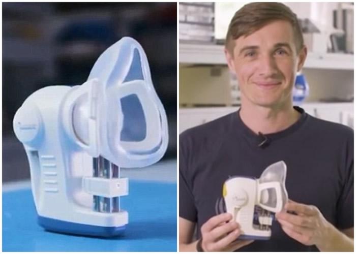 呼气分析仪(左)有助及早侦测癌症,右图为博伊尔。