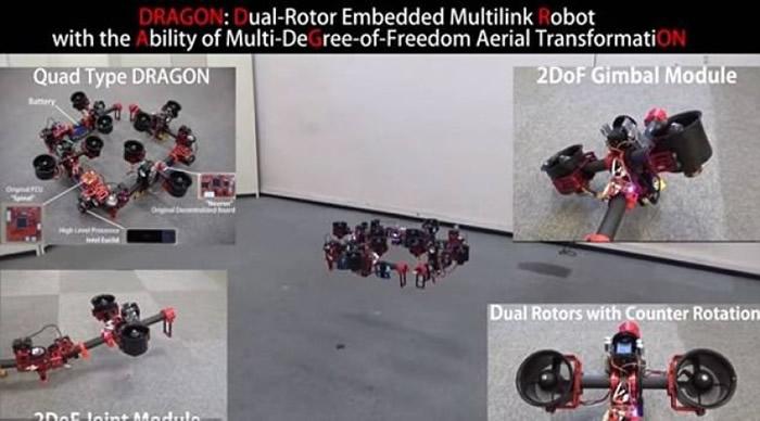 飞龙机器人可转换成多种形态。