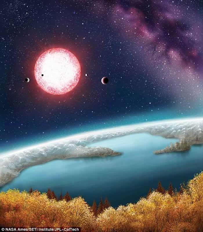 """美国团队新研究发现系外行星""""开普勒-186f""""气候稳定如地球"""