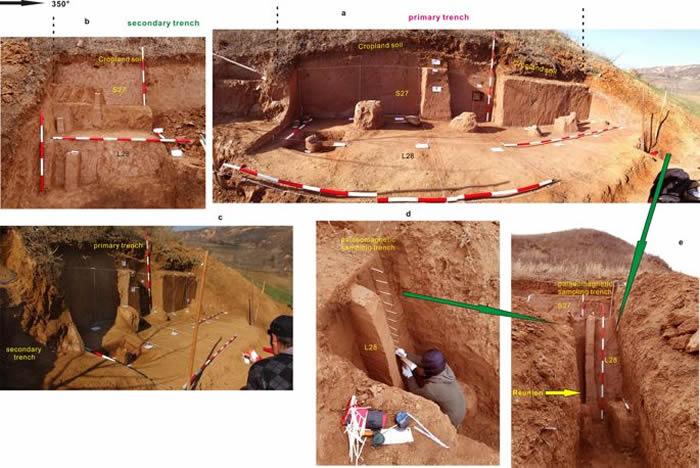 在上陈遗址区域挖掘深槽