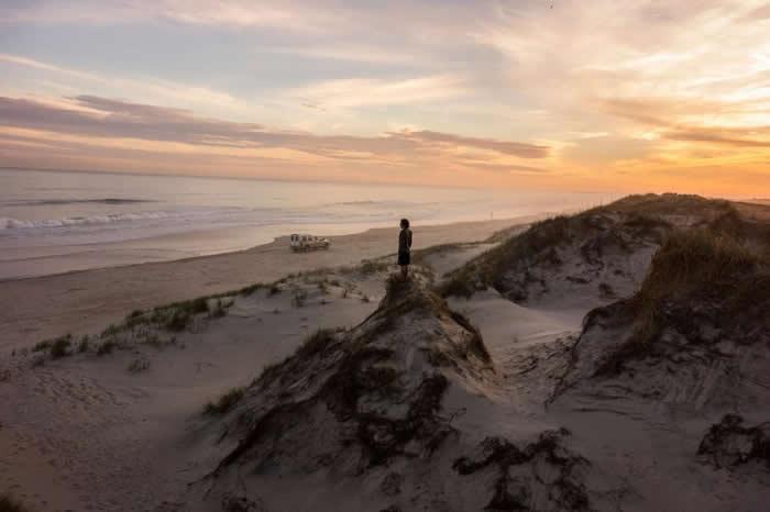 综横交错的沙丘延伸分布在北卡罗来纳州弗里斯科的哈特拉斯角国家海岸上,这些沙丘成为了住宅和无情的大西洋之间的自然屏障。 2010年时州政府宣称海水可能会上升一公尺