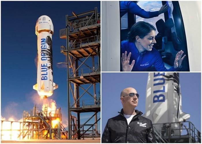 贝索斯(右下)创立的Blue Origin拟办太空旅游。