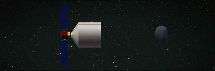 李明涛团队设想捕捉小天体的概念图