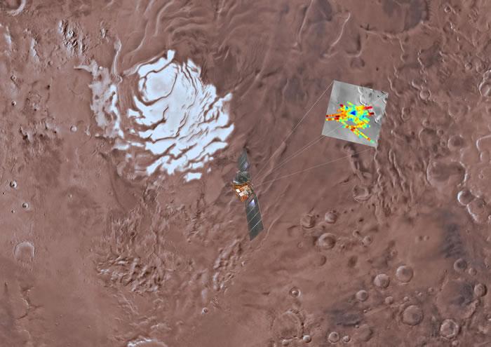 国际天文学家团队宣布首度在火星南极发现大型地下湖泊