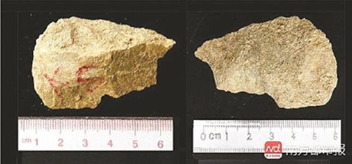 上陈遗址—第28层黄土中出土的石片工具