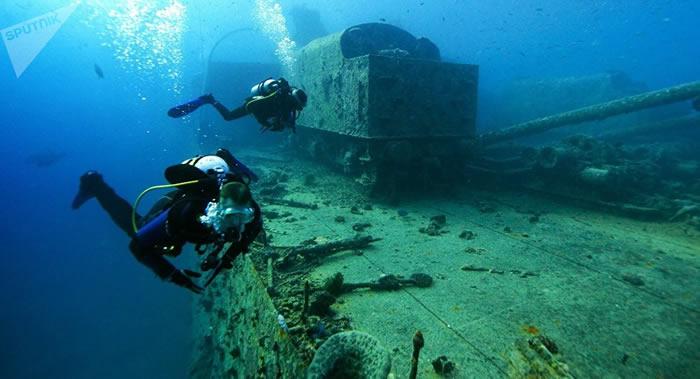 """""""海王星""""探险队在塞瓦斯托波尔海岸附近发现一艘古罗马沉船"""