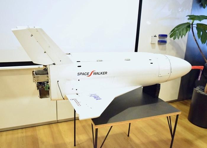 Space Walker研发太空飞机。图为该飞机的模型。