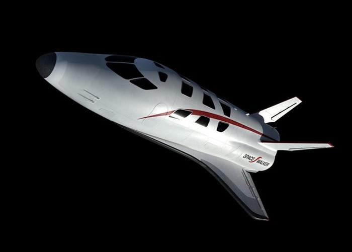 太空飞机可让人体验失重状态。图为该飞机的构想图。