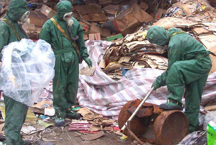 日本销毁在中国使用的芥子毒气