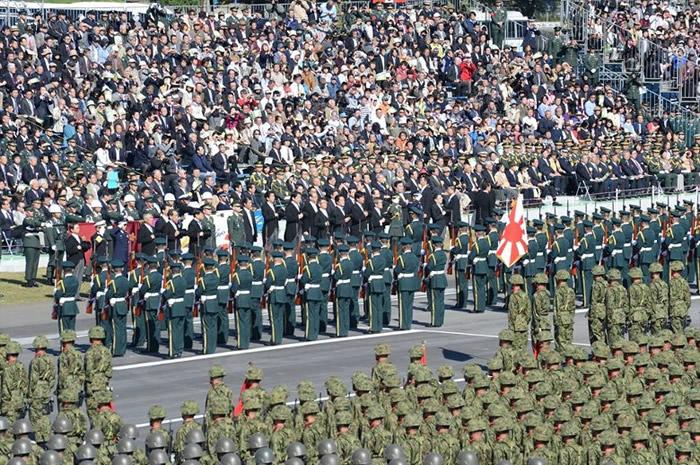 美国政府解密文件指冷战期间曾计划在日本部署拦截系统对抗中国核攻击能力。图为日本自卫队。