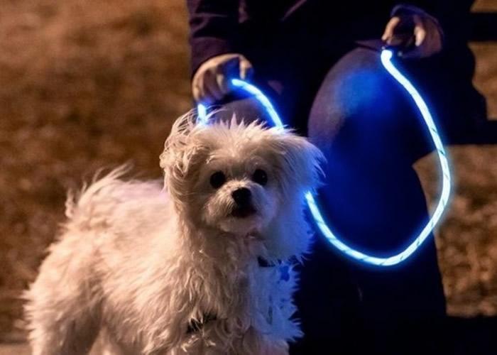 狗带备有长亮和闪亮两种模式。