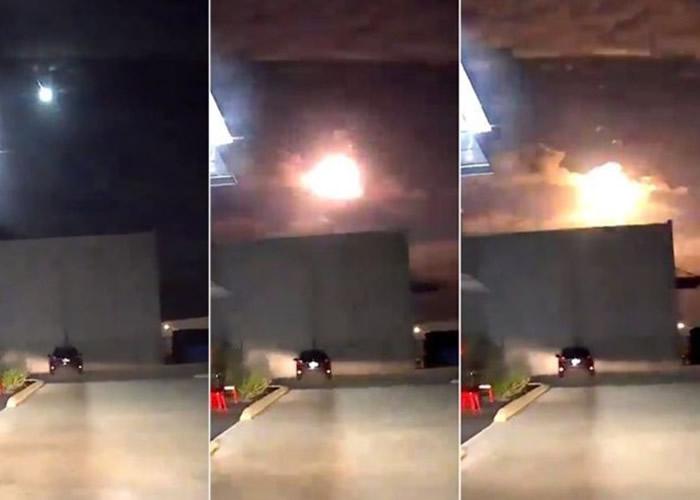 火球划破澳大利亚珀斯夜空 或为陨石坠落地球