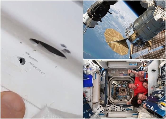停靠在国际太空站的俄罗斯太空船上的破洞疑为思乡太空人所为?