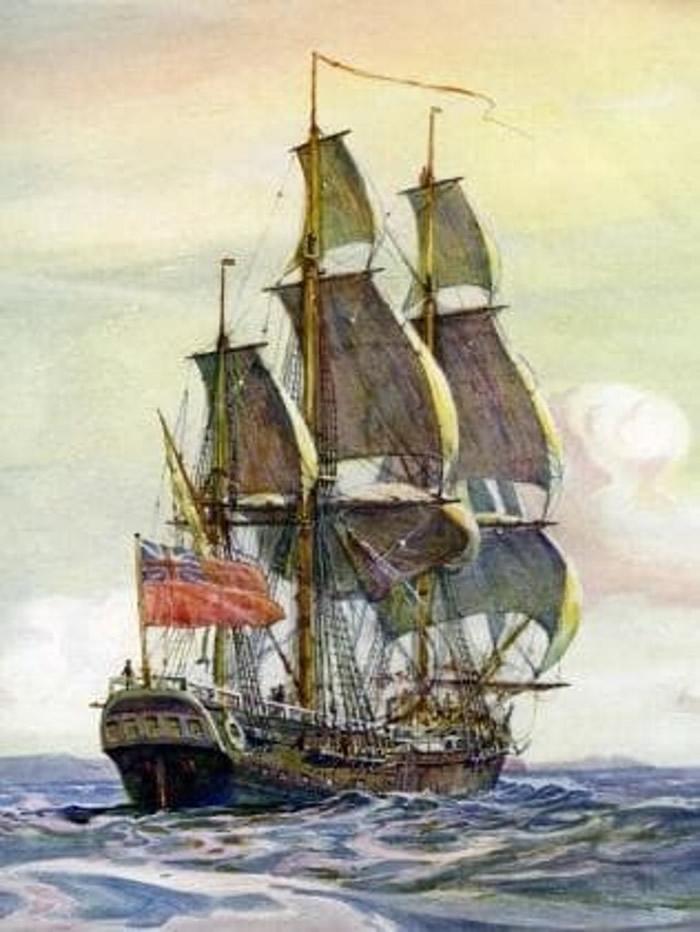 考古学家称在罗得岛州海底,发现疑似是奋进号(图)的残骸。