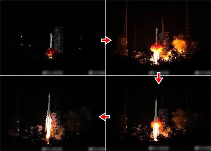"""中国""""一箭双星""""发射两北斗导航卫星 首载搜救设备"""
