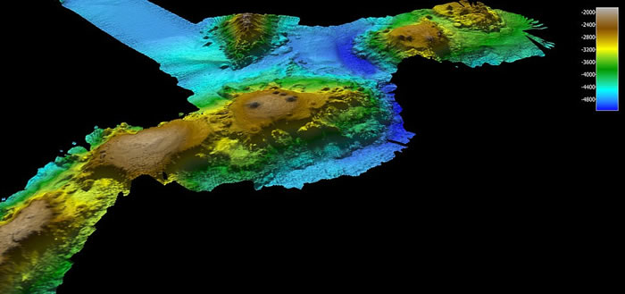 """太平洋塔斯曼海海底发现""""失落的世界"""""""