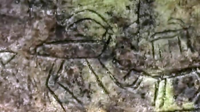 土耳其南部阿塔图尔克湖大坝周围岩石上发现旧石器时代狩猎石刻