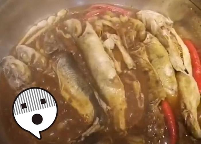 青海西宁网民抖音分享煮青海湖中的濒危湟鱼片段