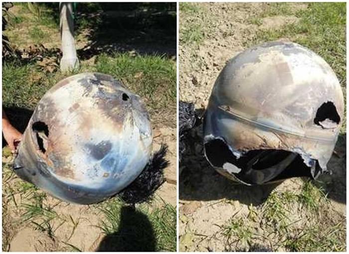 外星人头盔?美国加州核桃园发现外型如巨型头盔金属物