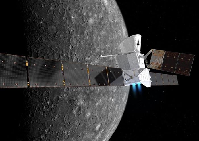 """BepiColombo""飞抵水星后,将会继续人类研究水星的任务;图为构想图。"
